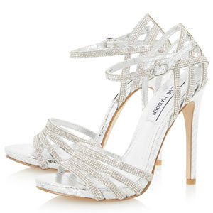 Steve Madden Silver Diamante Rhinestone Heels